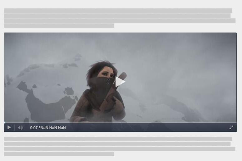 HTML Video Player UI +Responsive