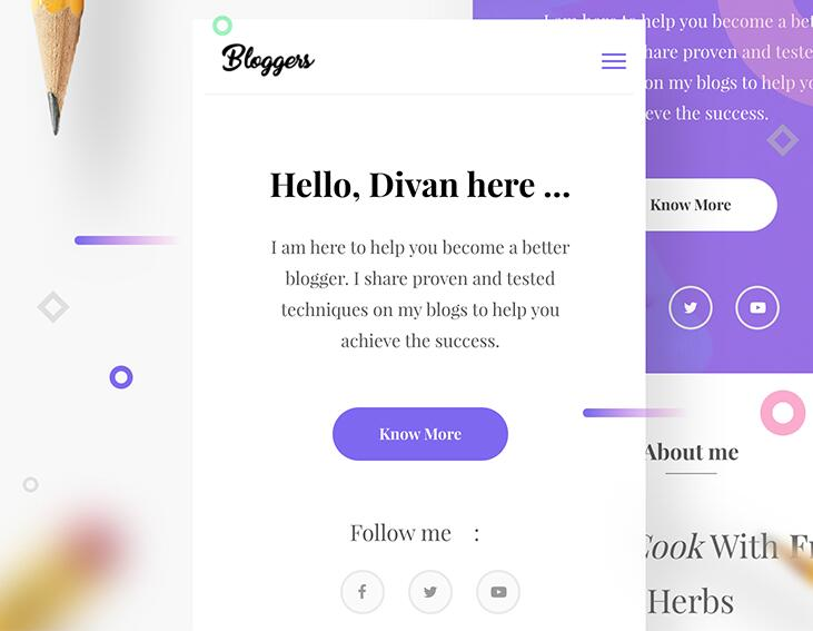 Bloggers template Mobile version