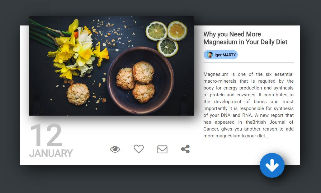 Blog card with HTML and CSS by IMarty