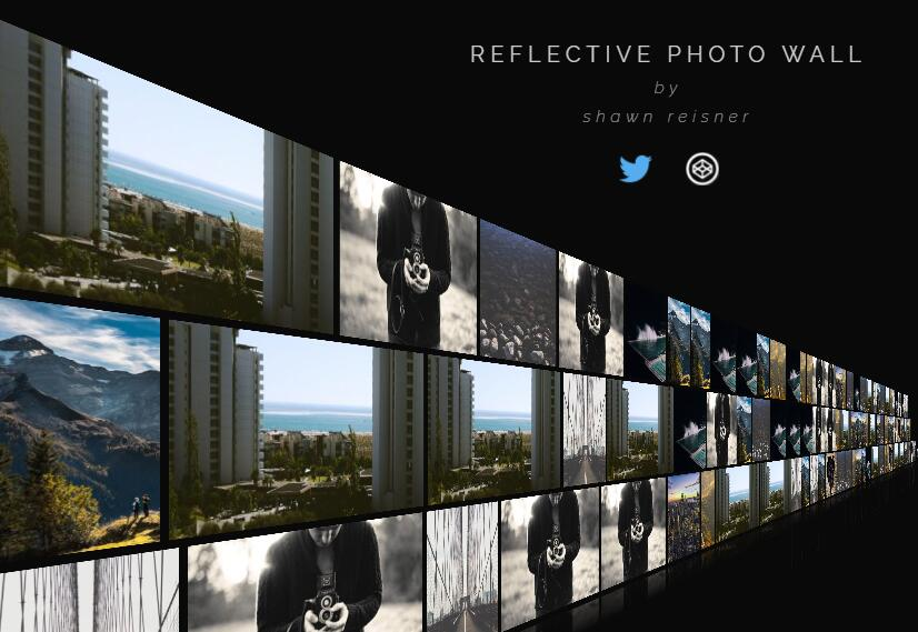 Reflective Photo Gallery Wall with css and JavaScript