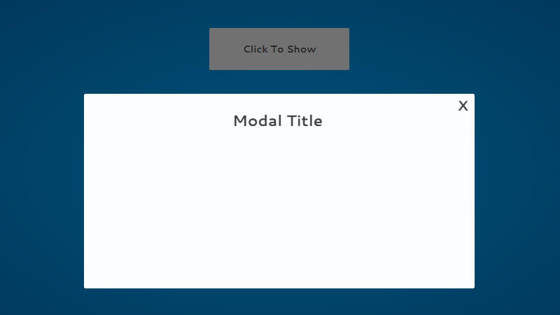Modal draws then fades in using SVG and CSS animation