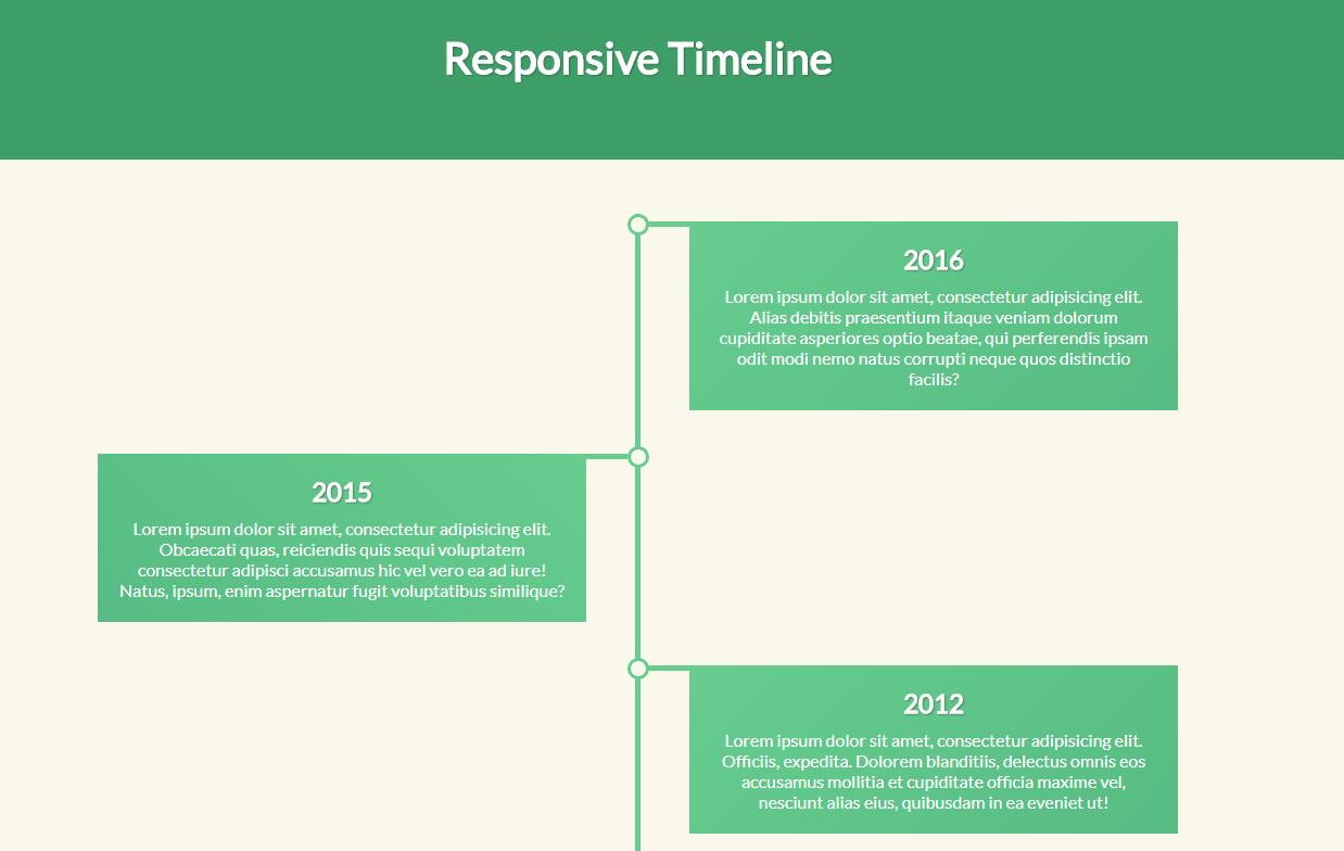 Responsive Timeline with CSS and JavaScript