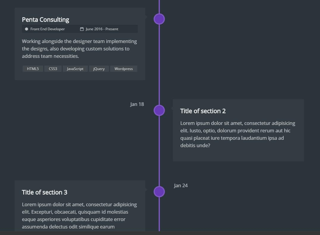 YGC V2 Timeline with css