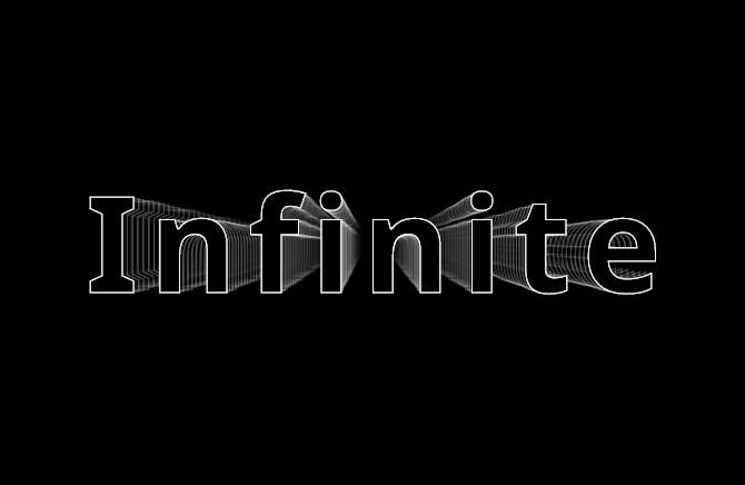 CSS Text Stroke Infinite effect only with CSS