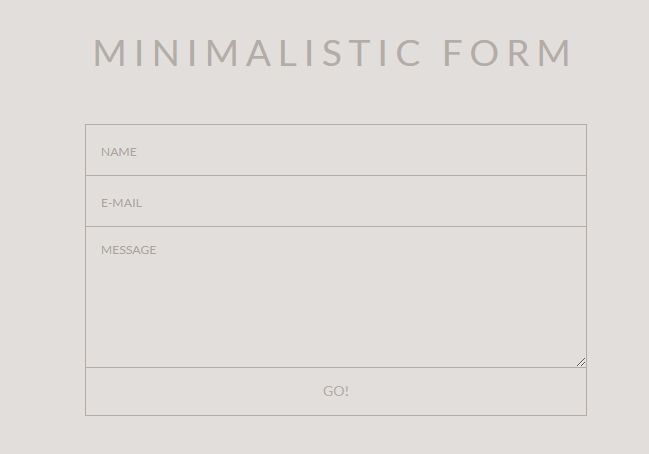 Simple and beautiful contact form