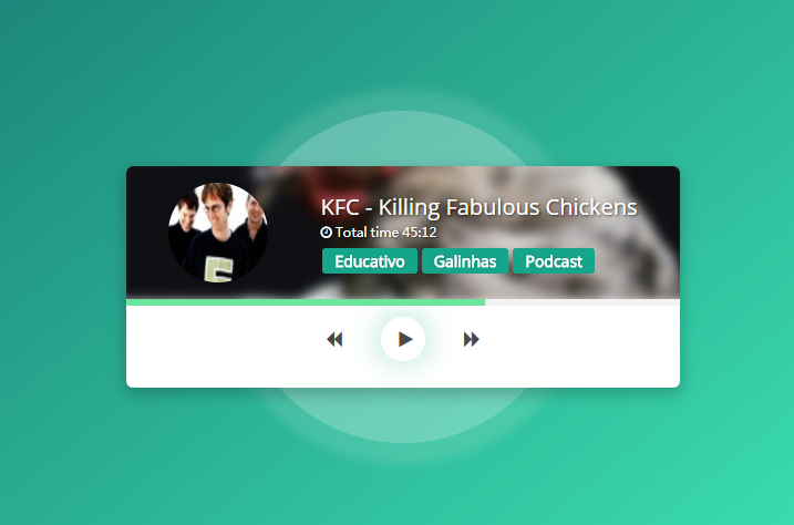 HTML and CSS music player design