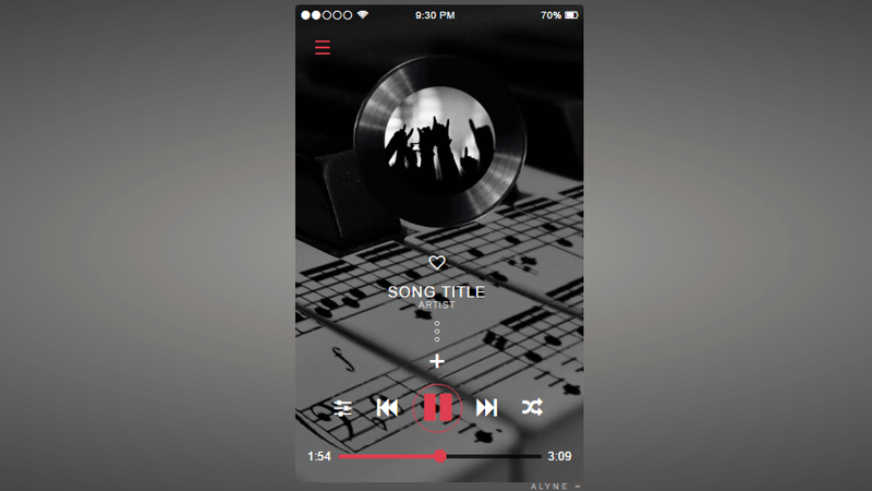 Music player inspired by Abbey Music App