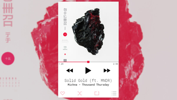 Clean And Stylish Music Player UI