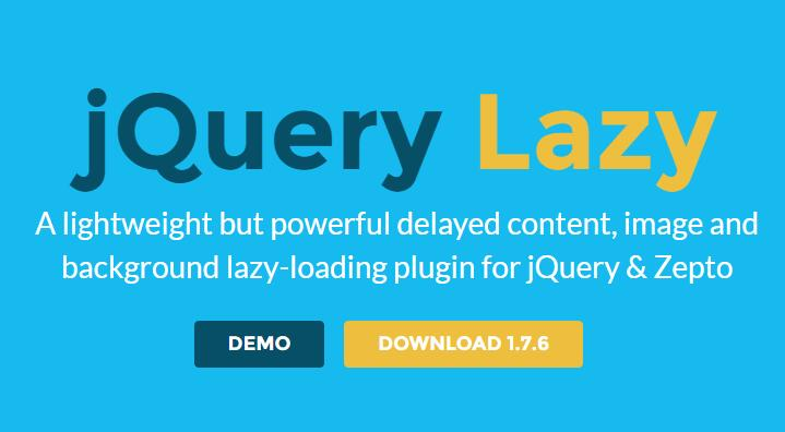 A lightweight fast image and background lazy loading plugin