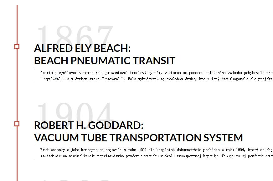 Hyperloop timeline CSS only