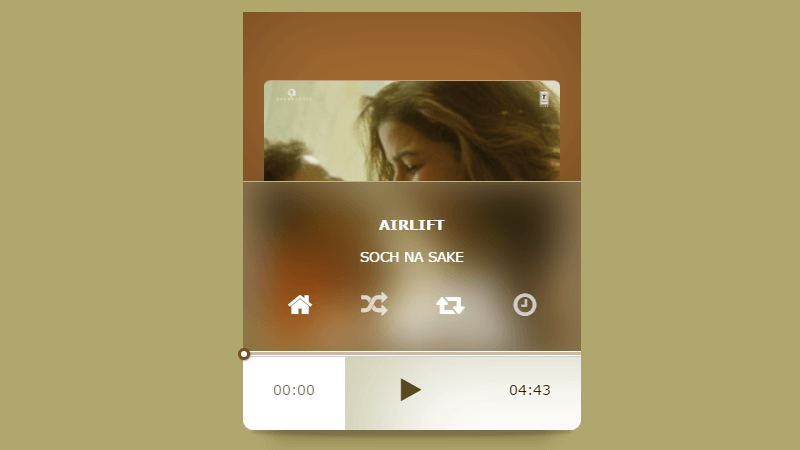 Mini Music Player with CSS and JavaScript