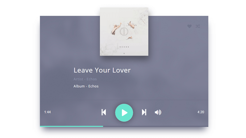 Music Player Design In CSS