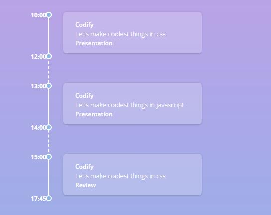 CSS vertical timeline with time intervals