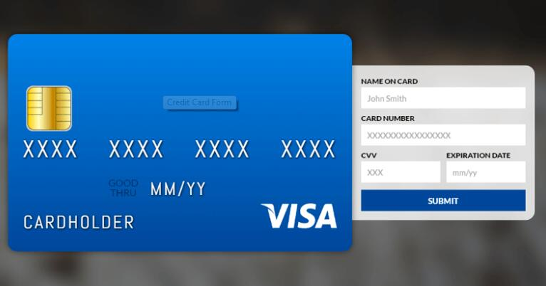 Credit card form with CSS and JavaScrip