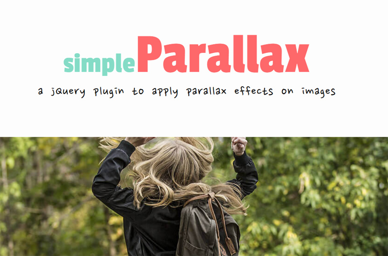 jQuery plugin to apply parallax effects on images