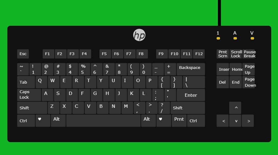 A small keyboard in HTML and CSS