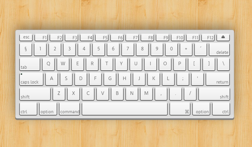 APPLE KEYBOARD IN HTML/CSS